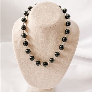 Vintage - Black Bead Necklace